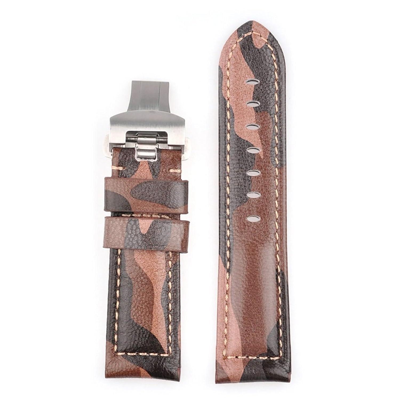 [エイト]腕時計ベルト 24mm シルバー レザー ELB096A [並行輸入品]  B01MRWL7T9