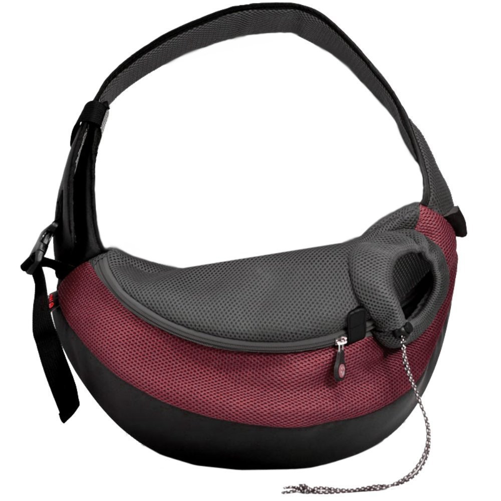 Crazy Paws Pet Sling Small Burgandy by Crazy Paws