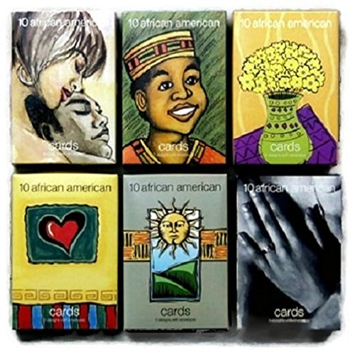 African American Stationary Greeting Cards Variety all Occasions 1 Box of 10 with Envelopes