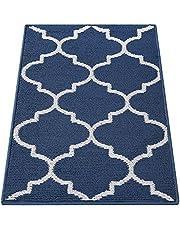 Olanly Indoor Doormat, Non-Slip Absorbent Resist Dirt Entrance Rug, Machine Washable Low-Profile Inside Floor Mat Area Rug for Entryway
