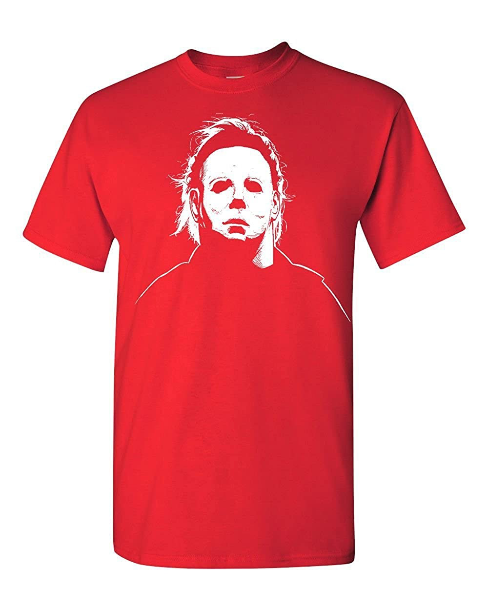 Jacted Up Tees Michael Myers Halloween Movie Mask Men's T-Shirt
