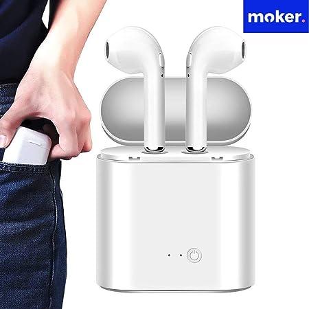 Par de auriculares inalámbricos con bluetooth, cuyas características son alta calidad de sonido y la estable señal bluetooth. Son compatibles con la mayoría ...