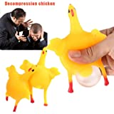 Viahwyt Novelty Easter Chicken and Eggs Squishies Squeeze Slow Rising Stress Reliever Toy Decompression Toys Phone Charm Gift Keychain Keyring Kids Toy