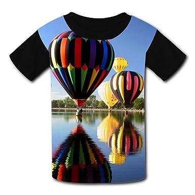 c91828d1fb29b Amazon.com: Hot Air Balloon T-Shirt Short Sleeve Kids Tee Shirt ...