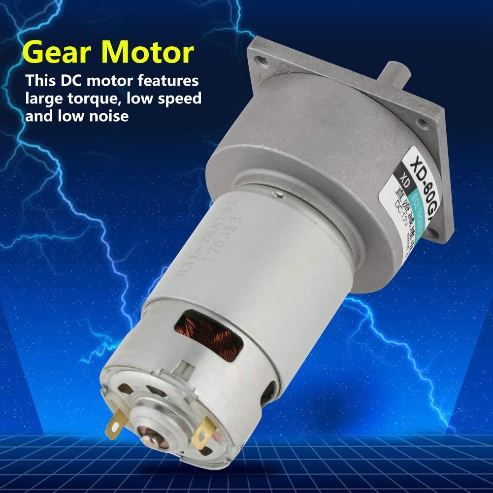 35W Micro DC Metal Gear Motor Geschwindigkeit einstellbar CW//CCW DC12V//24V 12V 30rpm
