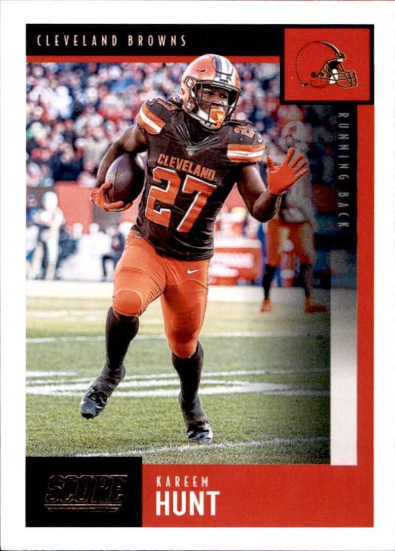 Amazon Com 2020 Score 67 Kareem Hunt Cleveland Browns Football Card Collectibles Fine Art