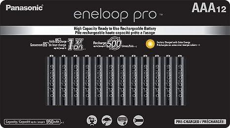 Amazon.com: Panasonic BK-4HCCA12FA eneloop Pro AAA - Pilas ...