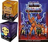 lego animated robots - MoTU Best Of He-Man Buildable Figures Skeletor Block Heads - 10 Episodes Masters of the Universe 2-DVD with Documentary & 2 Brick Building bundle