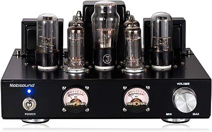 Amazon.com: Nobsound 6P1 6,8 W 2 amplificador de potencia de ...