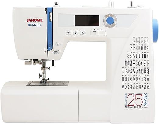 Janome NQM2016 National Quilting Museum Máquina de coser: Amazon ...