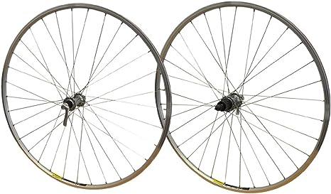 700c par Shimano Tiagra 32 horas de bicicleta de carretera bicicleta buje Mavic Open Cassette Hub corredor deporte aro de plata ruedas: Amazon.es: Deportes y aire libre