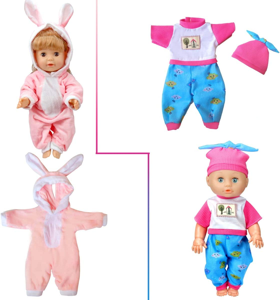 Amazon.com: WONDOLL 8-Sets Baby-Doll-Clothes for 12 inch Baby-Alive-Dolls  Handmade Clothing Lovely Hat Dress and Outfits Accessories Birthday for  Little Girl: Toys & Games