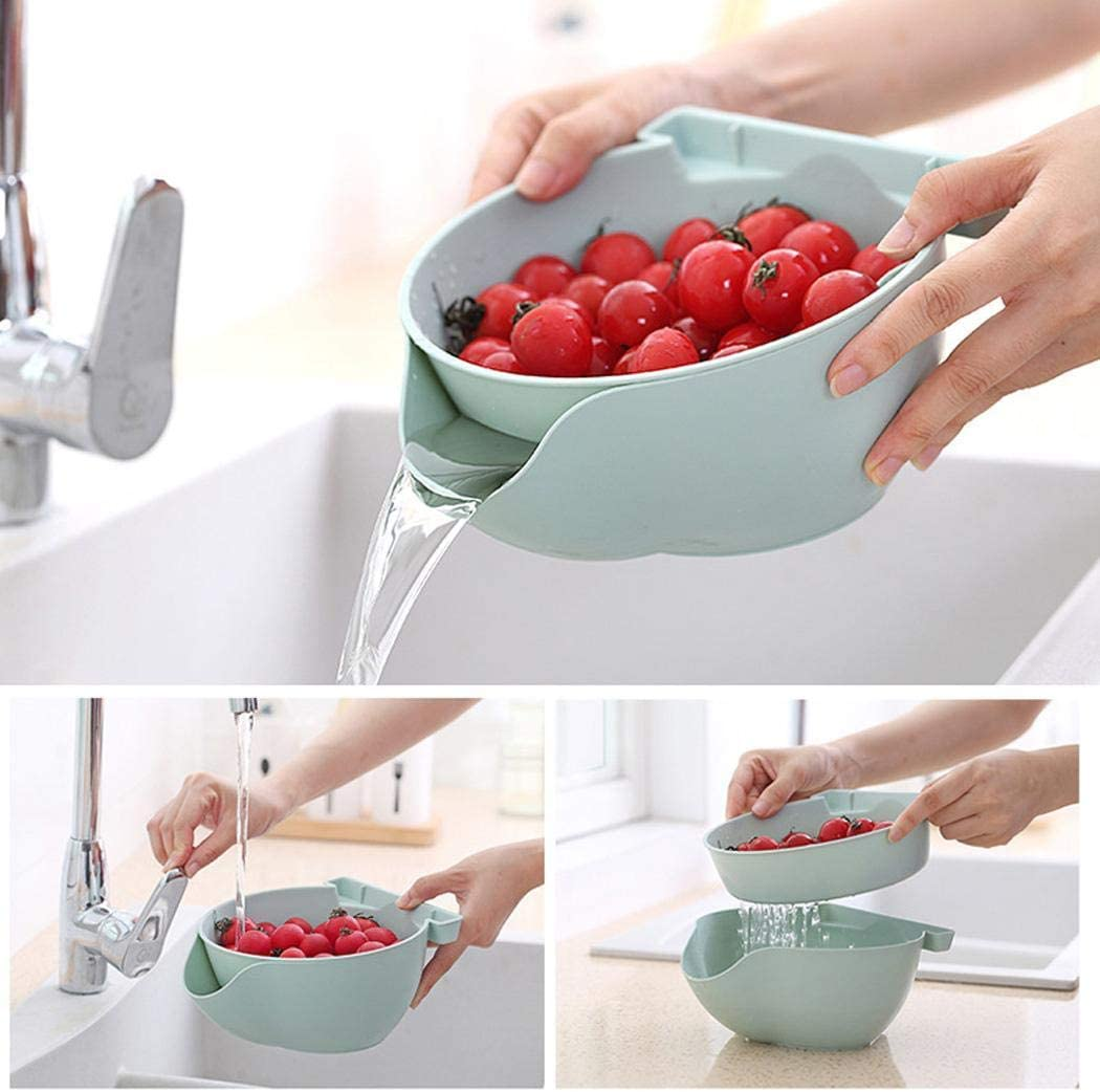 hemker Creative Fruit Plate Snack Storage Box Drained Fruit Plate Shelf Baskets