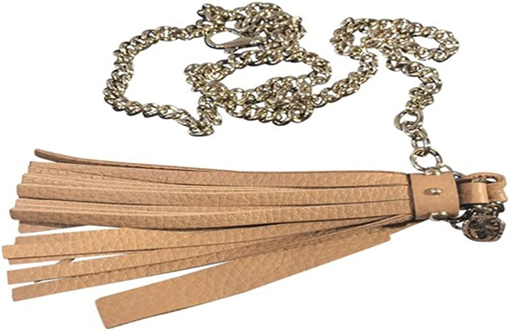 Gucci Camelia Beige Designer Chain Belt with Leather Tassel for Women 388992 Size: 38