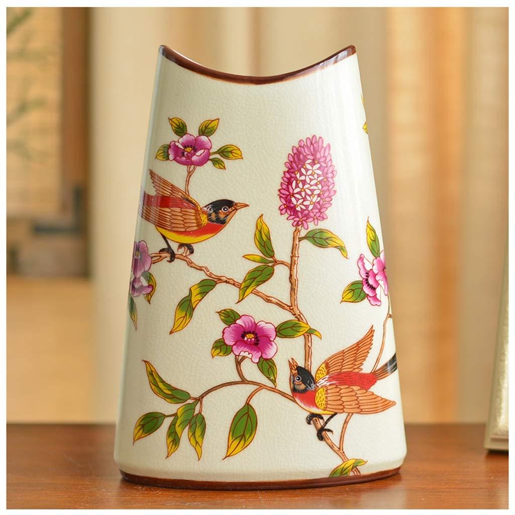 GAODUZI Vaso di Ceramica Cinese Paese Americano Soggiorno Modello Camera Soft Decorazione scrivania Ristorante Tavolino Decorazione Artigianato Vaso (colore   B, Dimensioni   B)