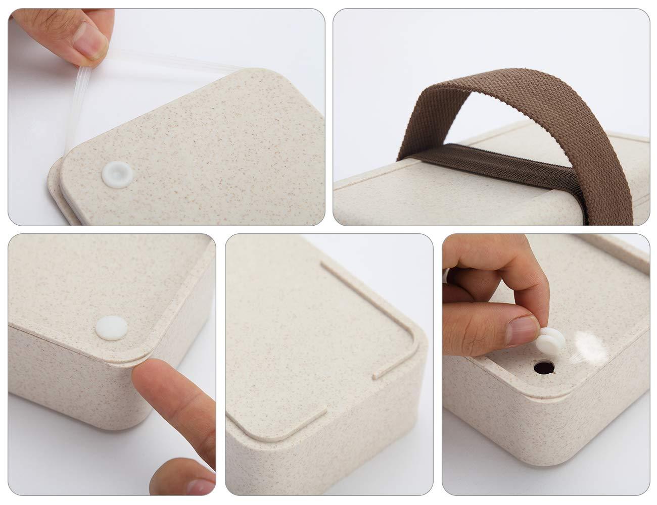 Amazon.com: YBOBK HOME Bento Box - Fiambrera para microondas ...