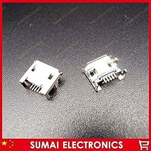 ARBUYSHOP 500pcs Envío libre micro USB 5p 5 pines enchufe hembra Conector de 4 pies de largo por inmersión solución pin del puerto de datos del producto digital