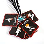 Karate Boy Thank You Favor Tags - Kids Birthday Martial Art Party Decoration Gift Tags - Set of 12