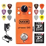 MXR M290 Phase 95 Mini Phaser Pedal w/ 12 Pack Picks and Strings by Dunlop