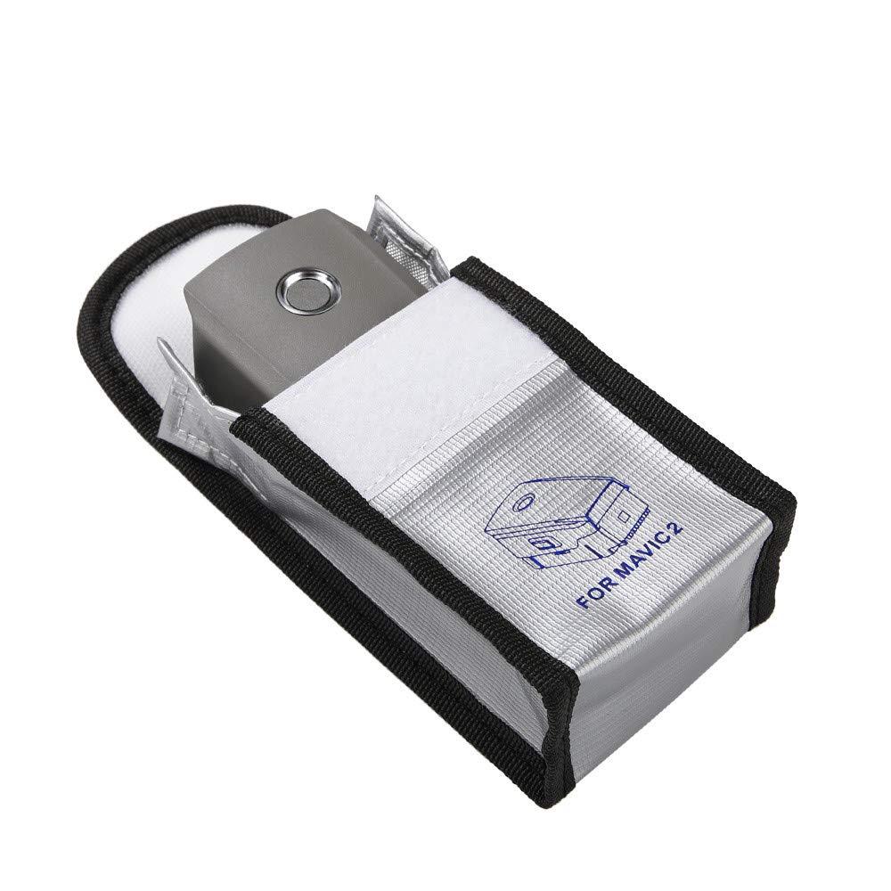 SUJING Fireproof Bag Storage Guard Explosionproof Lipo Safe Bag for DJI Mavic 2 Pro/Zoom,Sturdy Double Zipper Lipo Battery Guard (1pc Battery)