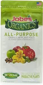 Jobe's Organics 09526 Organic All Purpose Granular Fertilizer 4-4-4, 4 lb
