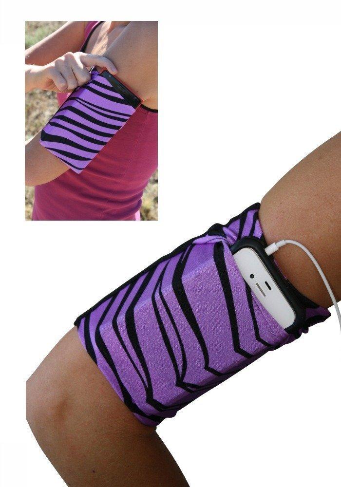 Purple Zebra Cell Phone Armband