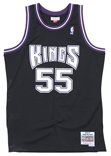 63257c8e7e60 Mitchell   Ness Jason Williams Sacremento Kings Men s Black Throwback Jersey  ...