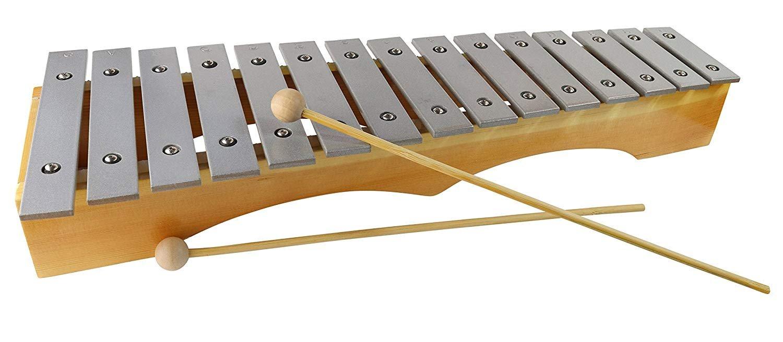 Xylophone for Adults - Professional Diatonic Glockenspiel - 19 inch Metallophone