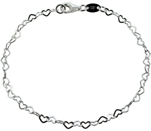 Anklets for Women 925 Sterling Silver 9208411 925 Sterling Silver Extra Large Adjustable 11 to 12 Inch // 28 to 30 cm 12 Inch Infinity Design Anklet//Ankle Bracelet//Ankle Chain