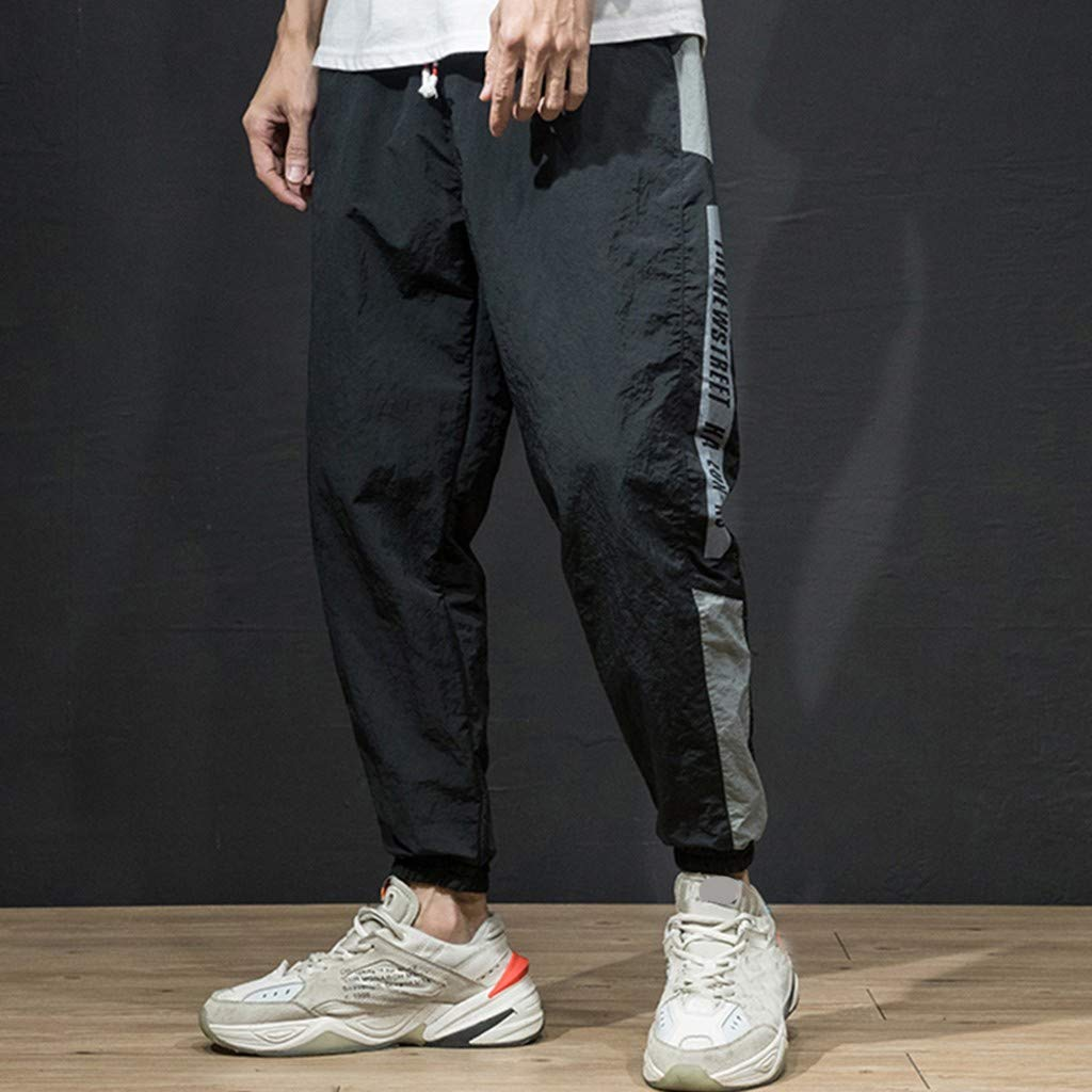 SAYEI Mens Summer Pants Long Fashion Quick Dry Overalls Casual Solid Comfortable Sport Capri Trousers with Pocket