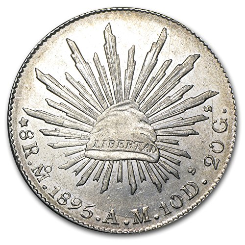1864-mx-1895-mexico-silver-8-reales-caprays-au-asw-7859-oz-silver-about-uncirculated