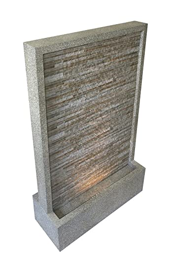 Brunnen U0026quot;Steinwandu0026quot; XXL (mit LED Beleuchtung)