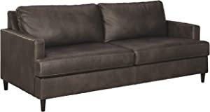 Signature Design by Ashley - Hettinger Faux Leather Sofa, Brown