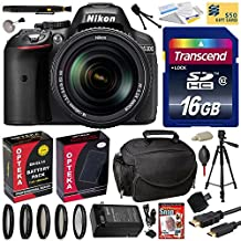 Nikon D5300 24.2MP Digital SLR Camera with 18-140mm f/3.5-5.6G ED VR AF-S DX Zoom Lens + 16GB + Card Reader + Tripod + Case + HDMI Cable + Extra Battery + Charger + 5 Piece Filter Set + Cleaning Kit