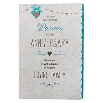 Hallmark anniversary card for parents loving family medium hallmark anniversary card for parents loving family medium m4hsunfo
