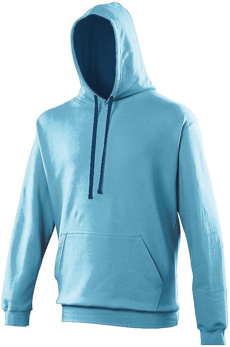 AWDis Hoods Varsity Hoodie Hawaiian Blue-Oxford Navy Streetwear Hoodies