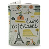 Wanderlust Passport Customised Collection (Time to Travel (Both Sides Printed) - White)
