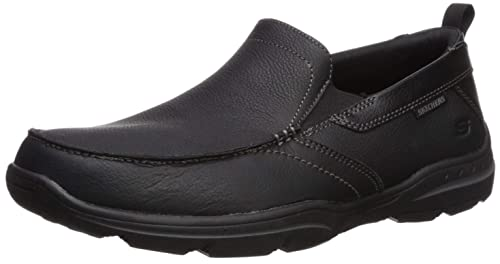 SKECHERS Uomo Relaxed Fit Harper - Scarpe Forde in pelle ...
