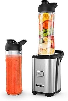 Emsa Clip&Go Snack - Recipiente hermético de plástico con 2 compartimentos Sin BPA