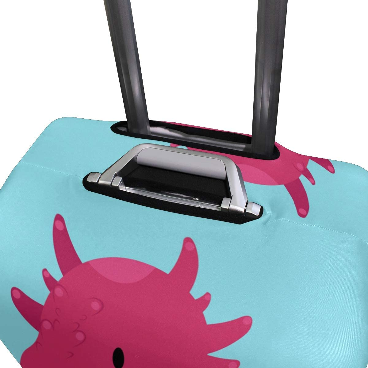 3D Cartoon Baby Dragon Print Luggage Protector Travel Luggage Cover Trolley Case Protective Cover Fits 18-32 Inch