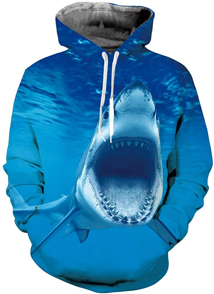 Ahegao Unisex Novelty Hoodies 3D Printed Graphics Fleece Pockets Pullover Sweatshirts for Christmas Halloween