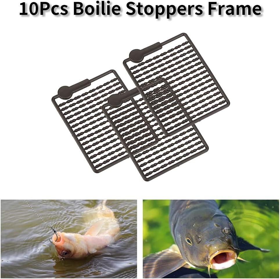 5 stücke bereit gebunden karpfenangeln rigs köder nadel boilie stopper 008