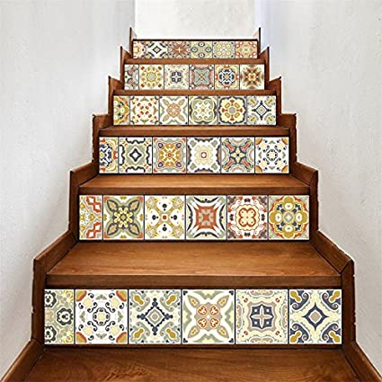 Beautiful AmazingWall Stair Sticker Tile Backsplash DIY Decals Peel And Stick  Removable Staircase Decor Mural 7.1x39