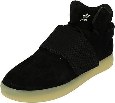 adidas Originals Mens Tubular Invader Strap Lace Up Hi Top Trainers- Black - 7.5