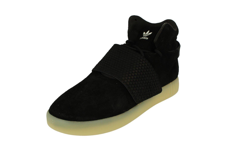 promo code a542a 1f353 Galleon - Adidas Originals Tubular Invader Strap Mens Hi Top Trainers  Sneakers Shoes (UK 12 US 12.5 EU 47 1 3, Black White Bb5037)
