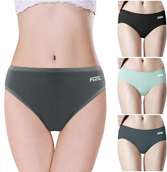 293c1a719e5a Women's Underwear Briefs, Ladies Modal Panties, Soft & Breathable Knickers,  3 Pack (