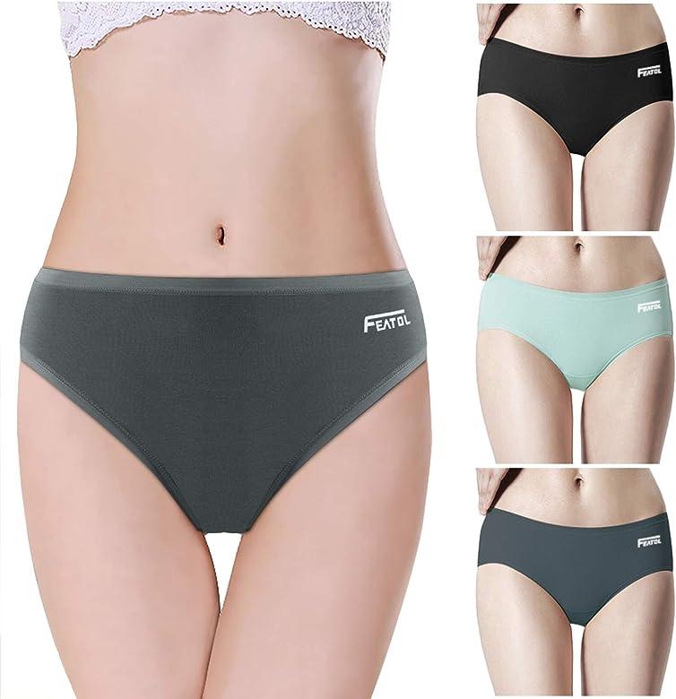 Black White Ladies Underwear Lingerie Invisible Soft Cotton Briefs Flat Seams