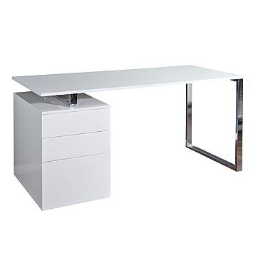 Invicta Interior Design Schreibtisch Compact Hochglanz Weiss
