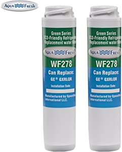 Aqua Fresh WF278 Replacement Inline Water Filter for GE-GXRLQR (2 Pack)