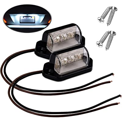 License Plate Light, COROTC 2 Pack 3W 12V 24V LED Exterior License Plate Light, Waterproof Dome/Cargo Lights or Under Hood Light for Car Truck Trailer RV SUV Boats: Automotive